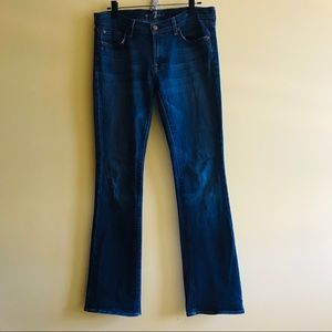 7 For All Mankind bootcut dark blue jeans
